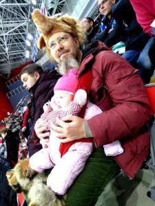 На матче Югра-Локомотив, декабрь 2012, Ханты-Мансийск