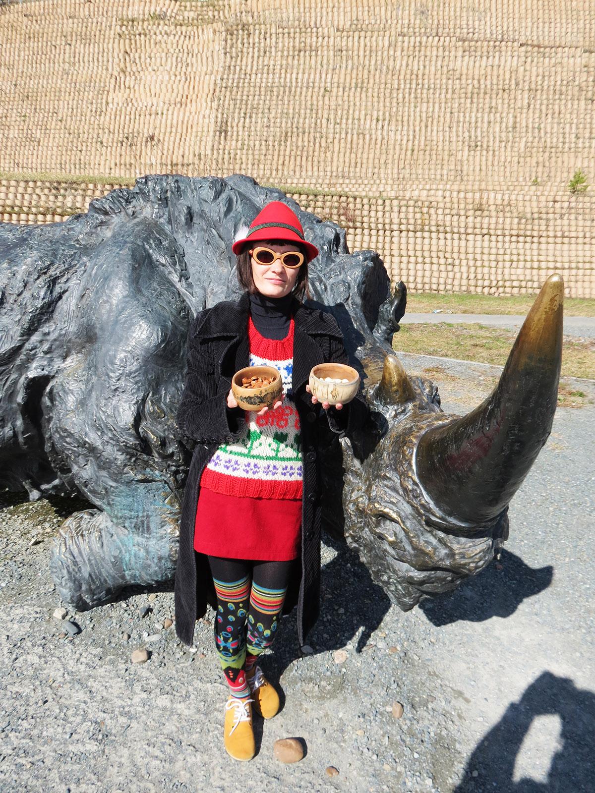 Камни Го из бивня носорога